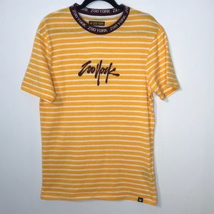 Zoo York embroidered mix stripes t-shirt